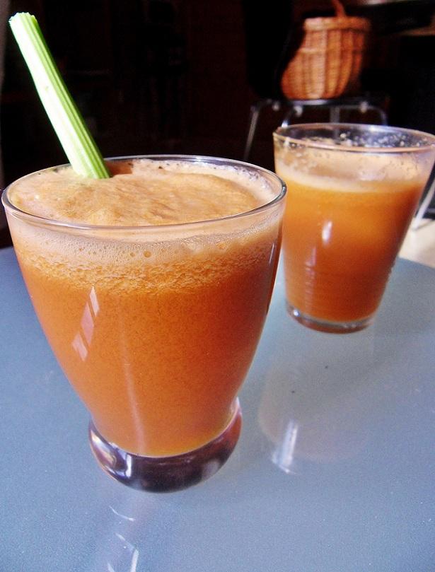 Succo di sedano-mela-carota
