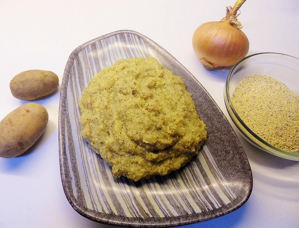 Polenta alle patate e cipolle